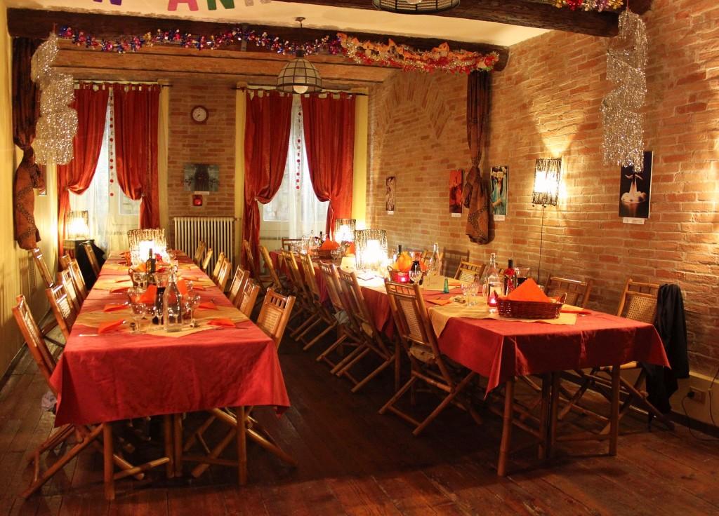 Cena nella sala superiore