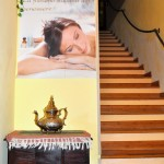 Le scale per la sala superiore